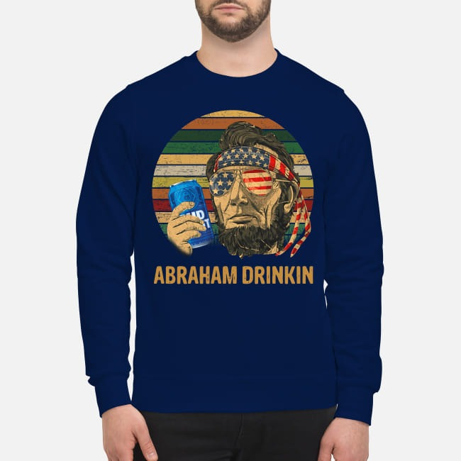 Abraham Lincoln Drinkin Bud Light Sunset Sweater