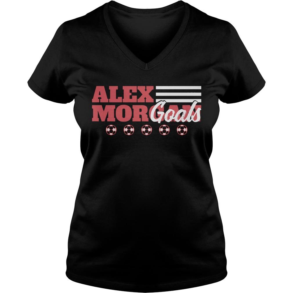 Alex Morgan Goals V-neck T-shirt