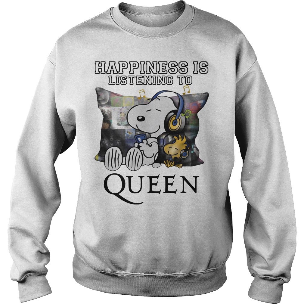 Snoopy And Woodstock Happiness Is Listening To Queen Sweater
