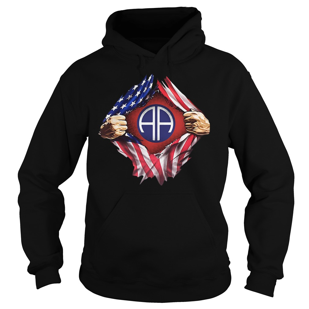 Army Airborne Blood Inside Me 4th Of July Independence Day Hoodie