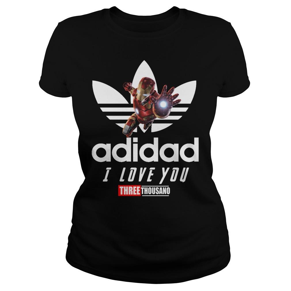 Avengers Iron Man Adidad I Love You Three Thousand Adidas Ladies Tee