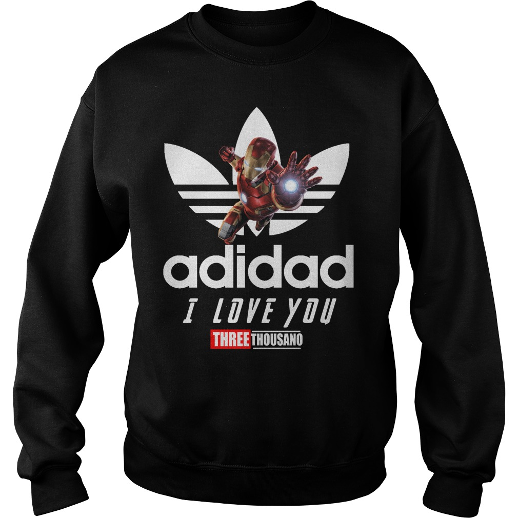 Avengers Iron Man Adidad I Love You Three Thousand Adidas Sweater