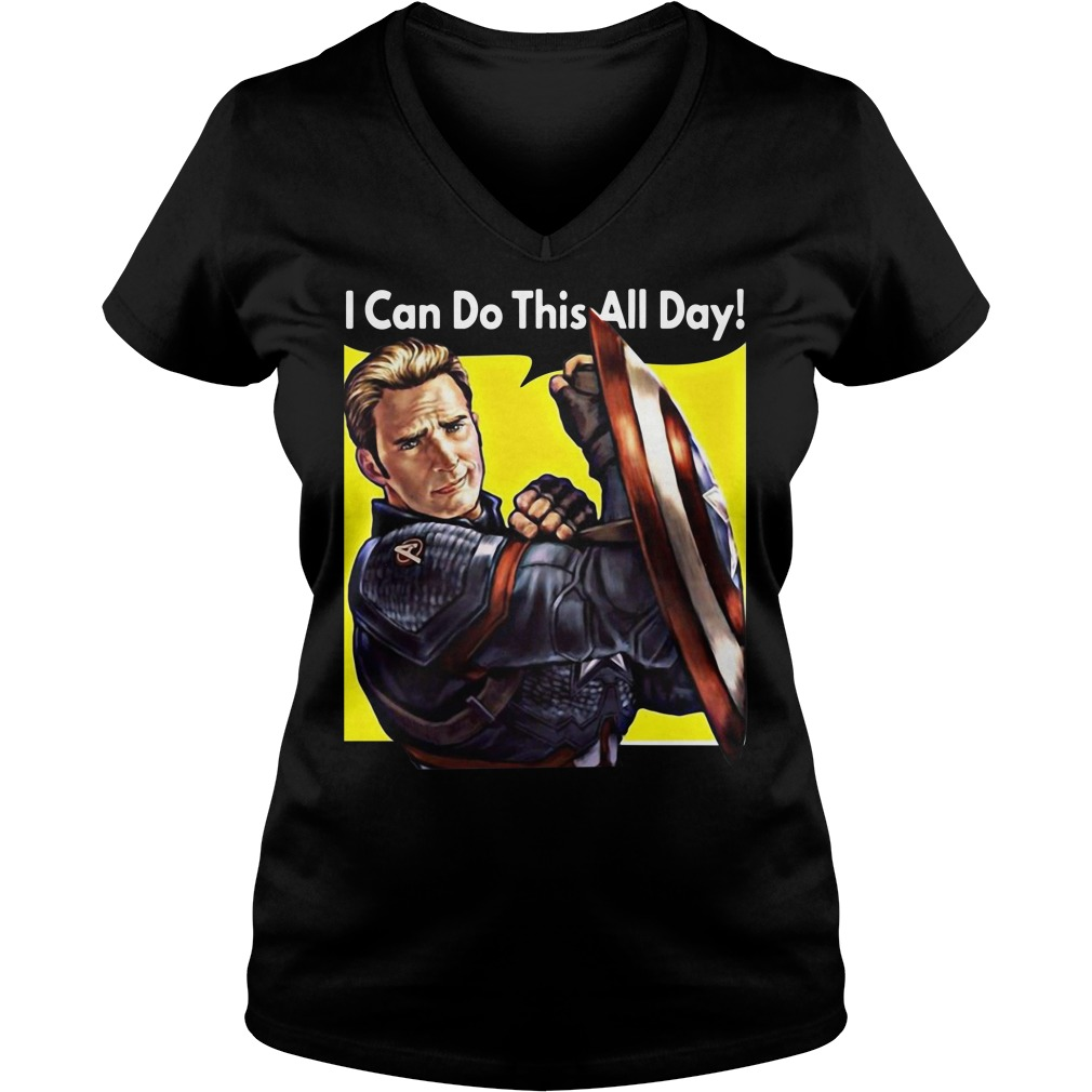I Can Do This All Day Captain America V-neck T-shirt
