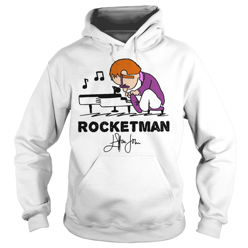 Freddie Mercury Playing Piano Rocketman Signature Hoodie