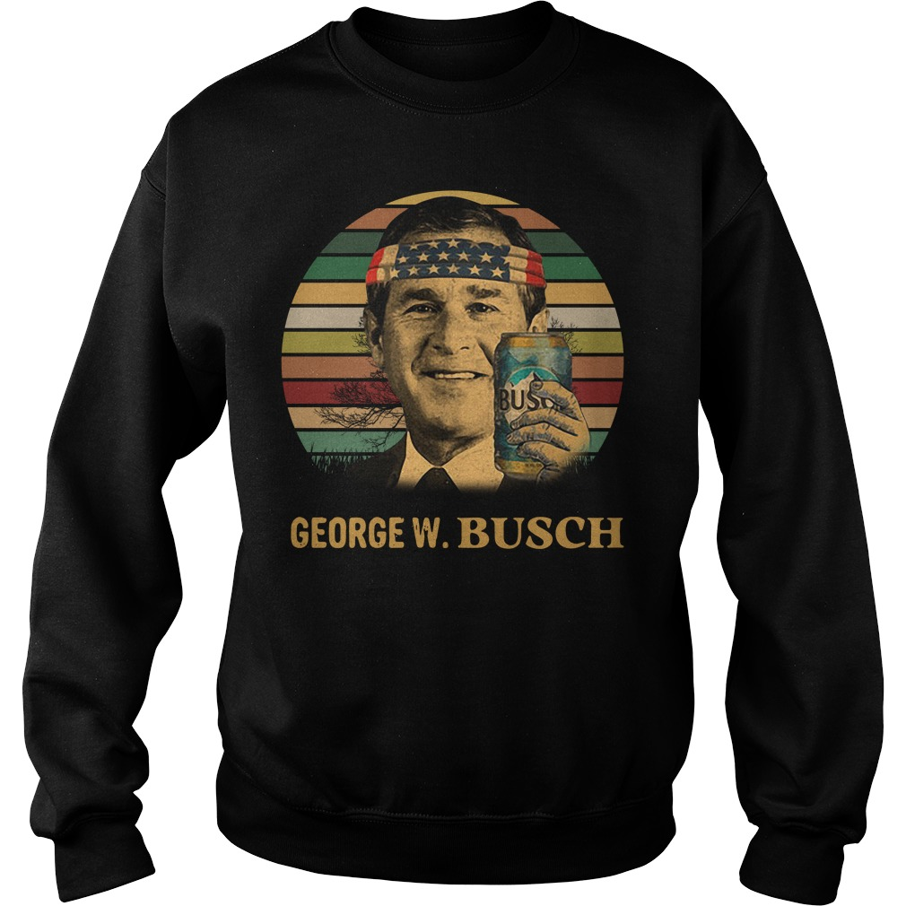 George W. Bush Busch Light Independence Day Vintage Sweater