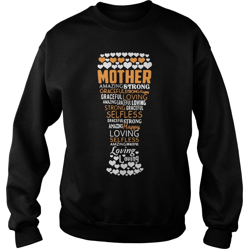 Happy Mothers Day Beer Amazing Strong Graceful Strong Happy Loving Selfless Sweater