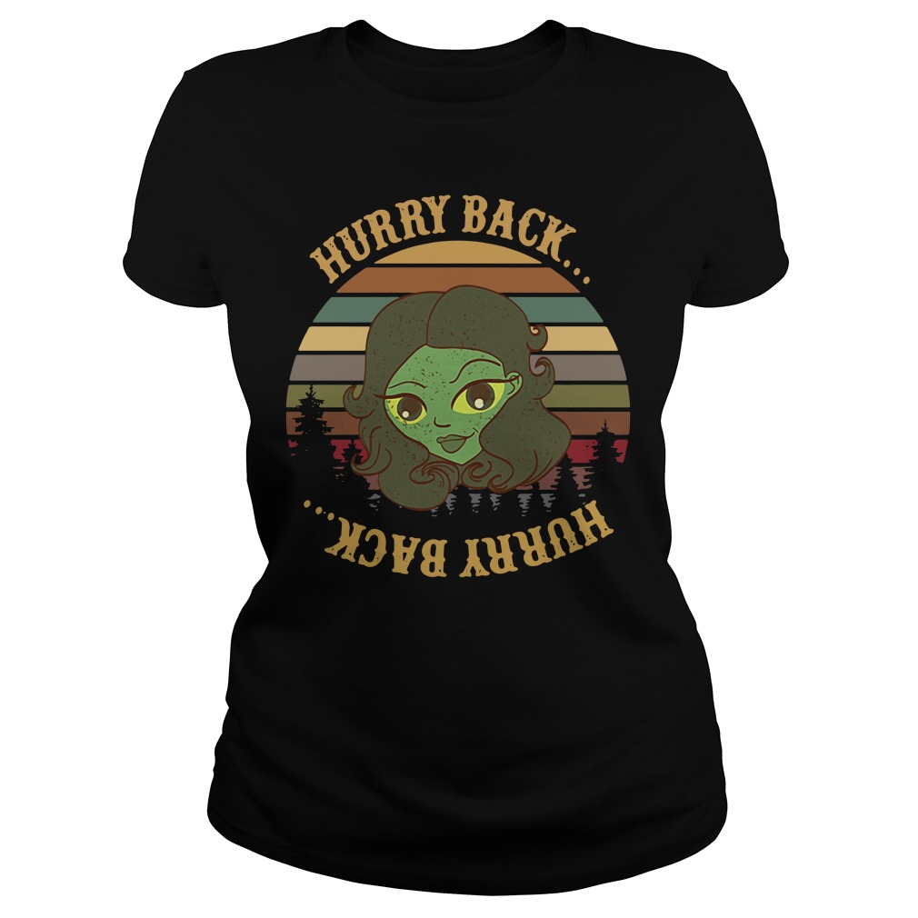 The Haunted Mansion Hurry Back Sunset Ladies Tee