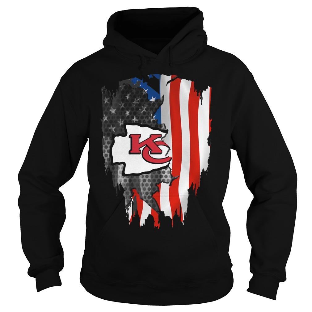 Kansas City Chiefs America Flag Hoodie