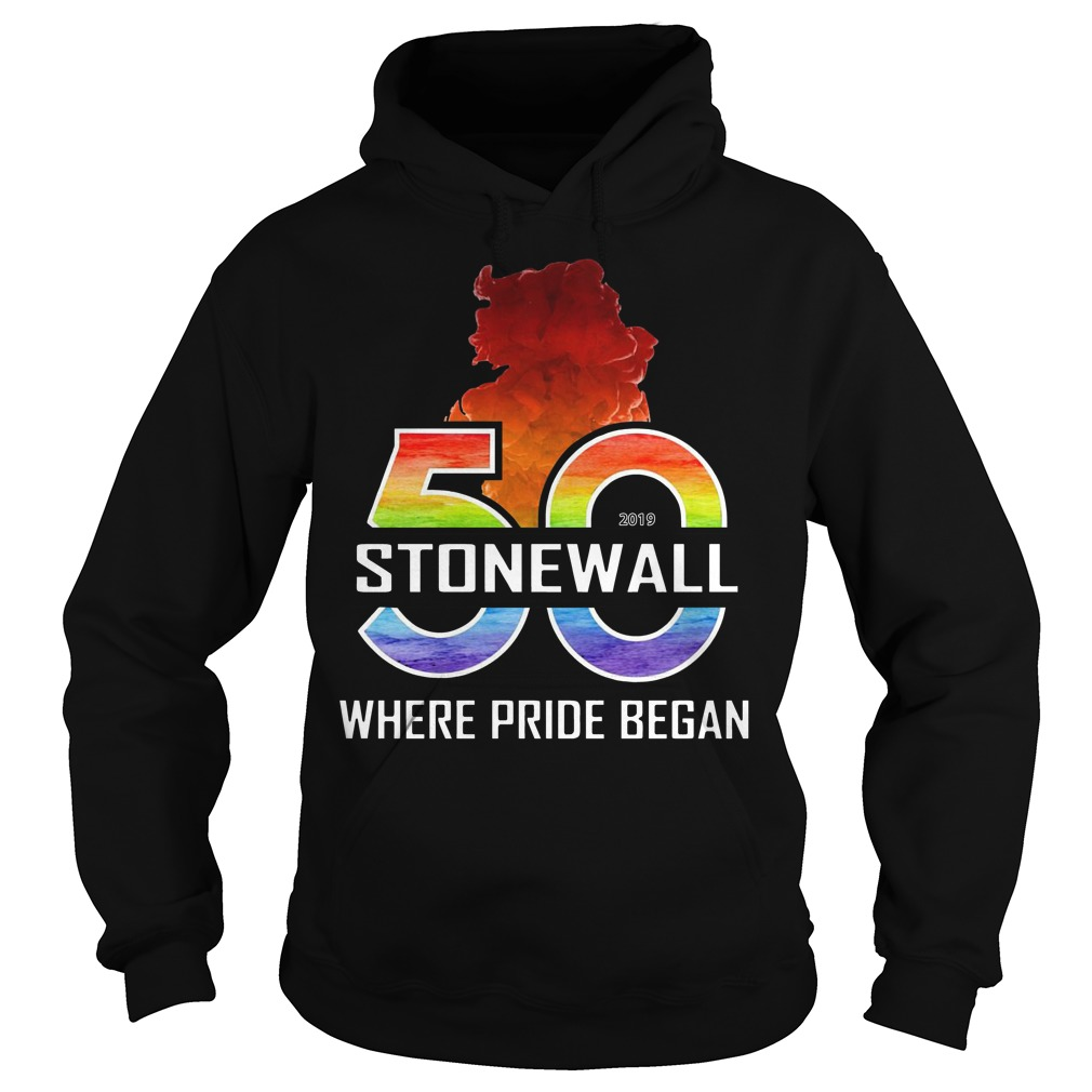 Lgbtq The Stonewall 50th Where Pride Began Hoodie