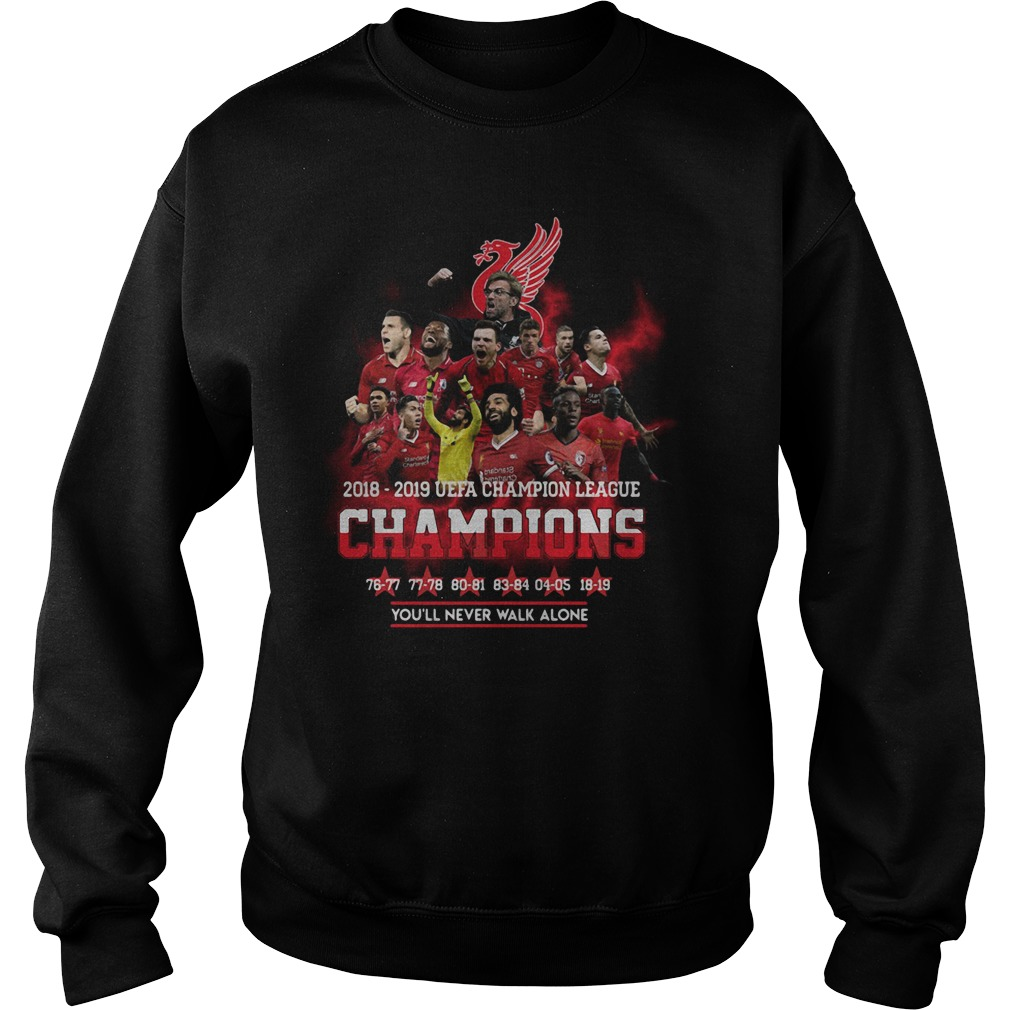Liverpool 2018 2019 Uefa Champions League Champions Sweater
