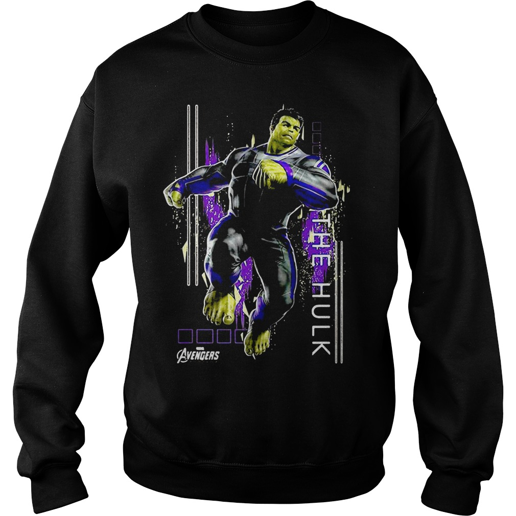 Marvel Avengers Endgame Hulk Action Pose Sweater