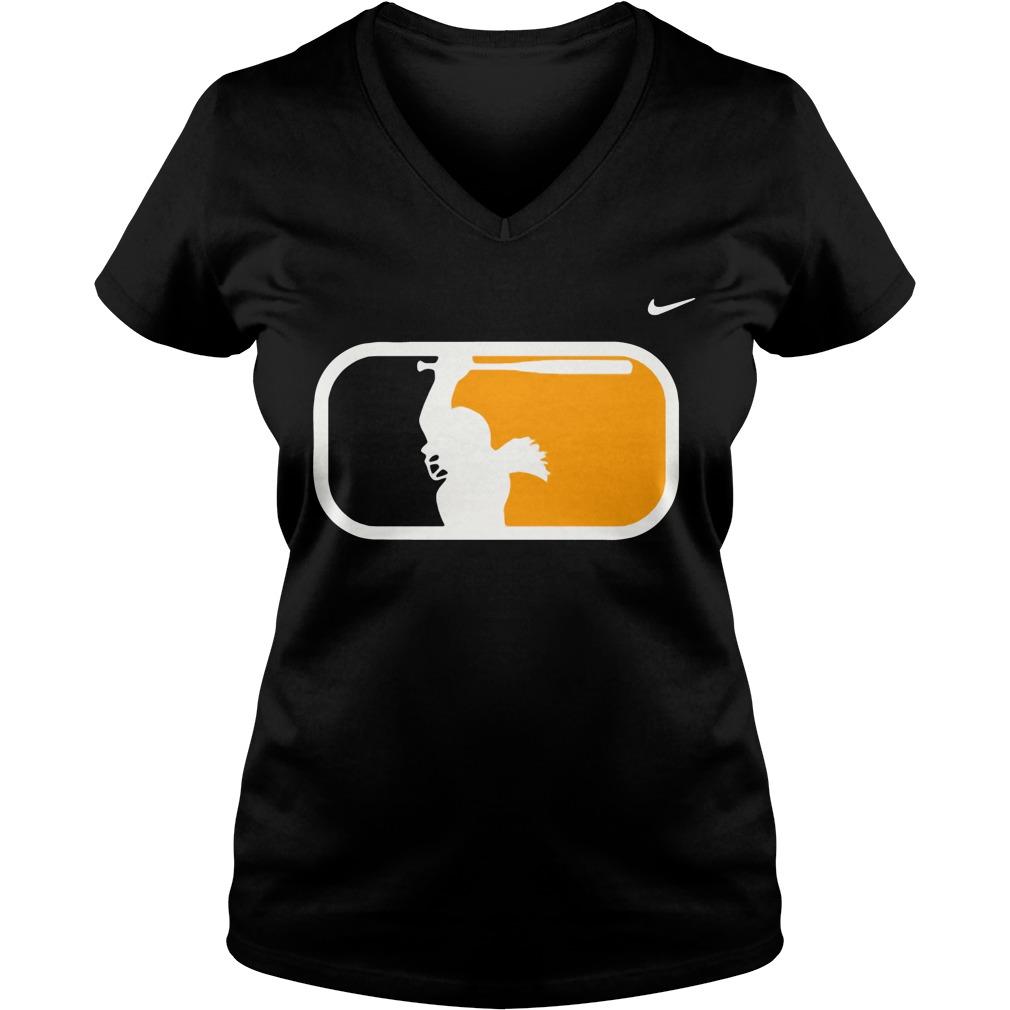 Osu Samantha Show Bat Flip V-neck T-shirt