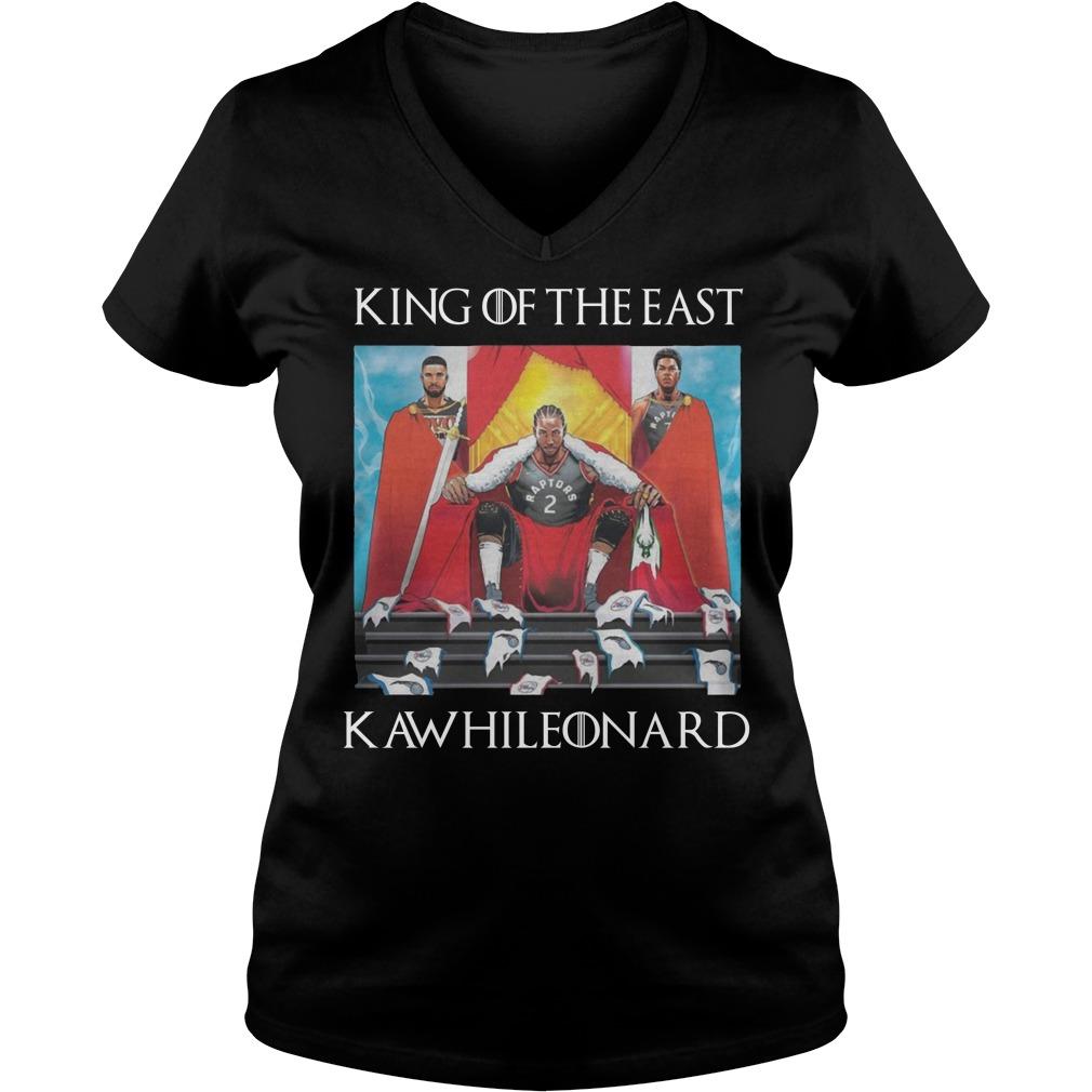 Toronto Raptors Kawhi Leonard King Of The East V-neck T-shirt