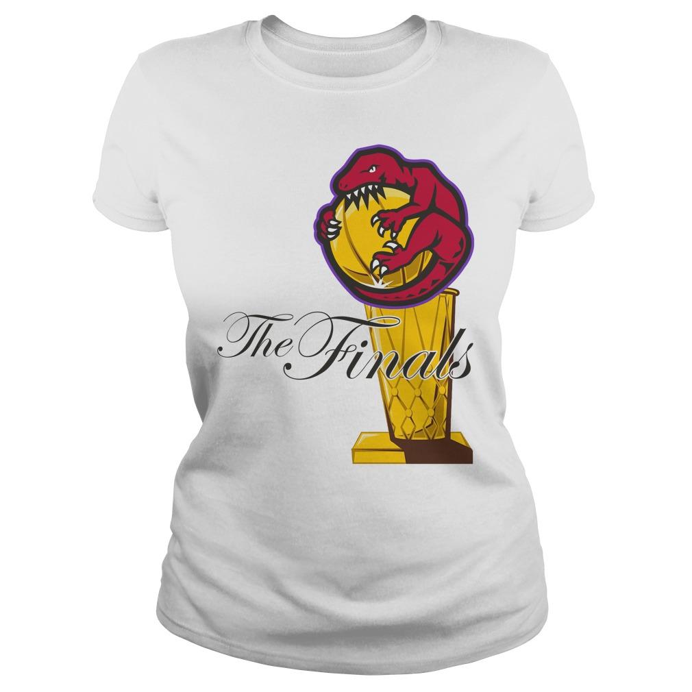 Toronto Raptors Nba The Finals Trophy Ladies Tee