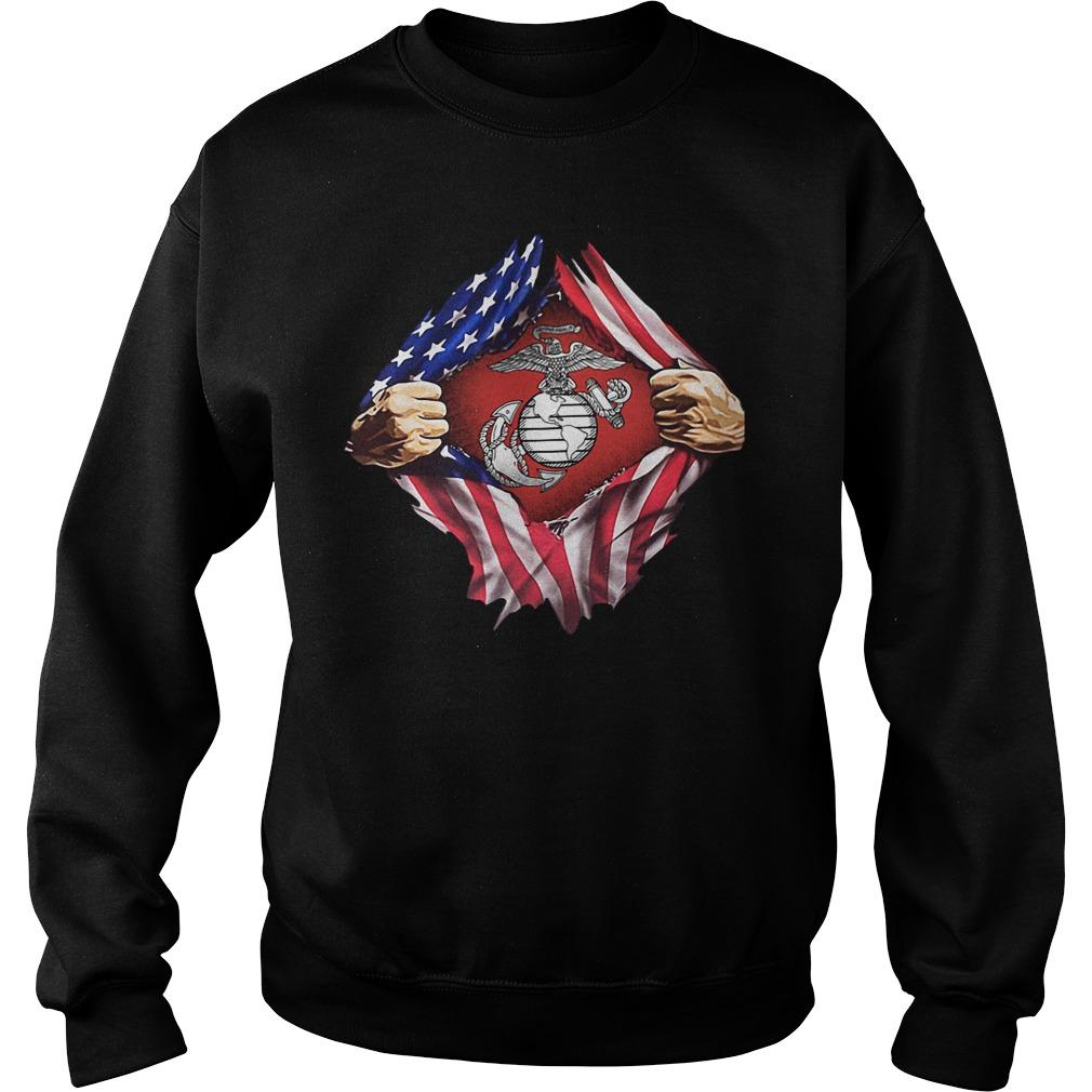 Us Marine Inside Me America Flag Sweater