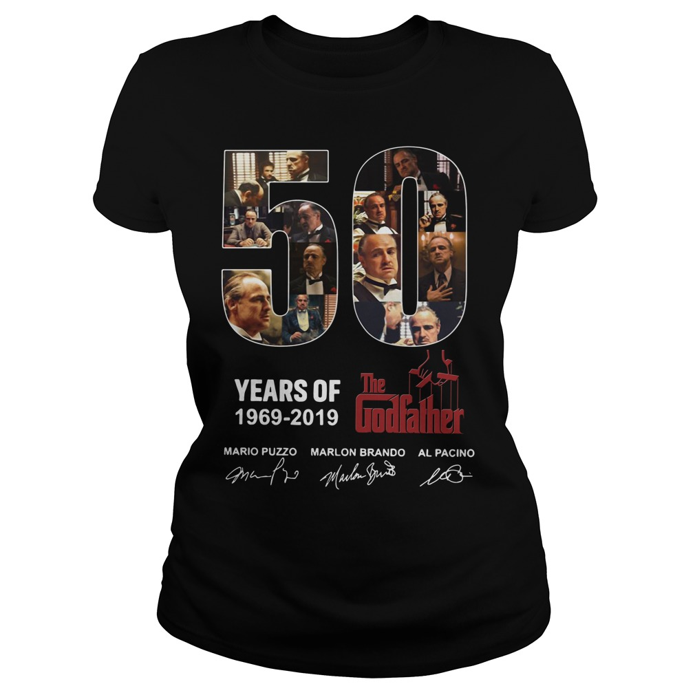 50 Years Of The Godfather 1969 2019 Signature Ladies Tee