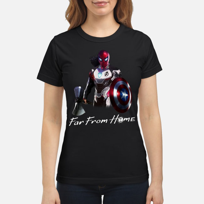 All In One Spider Man Far From Home Ladies Tee
