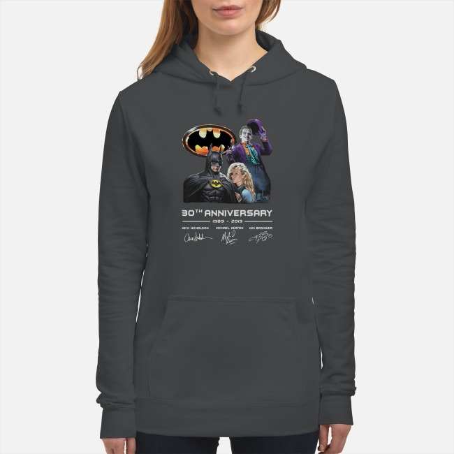 Batman Joker 30th Anniversary 1989 2019 Signature Hoodie