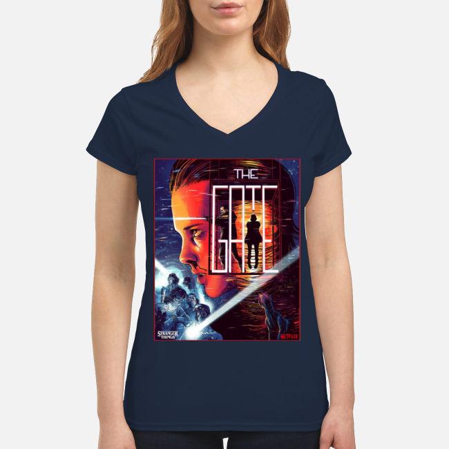 Stranger Things Close The Gate V-neck T-shirt