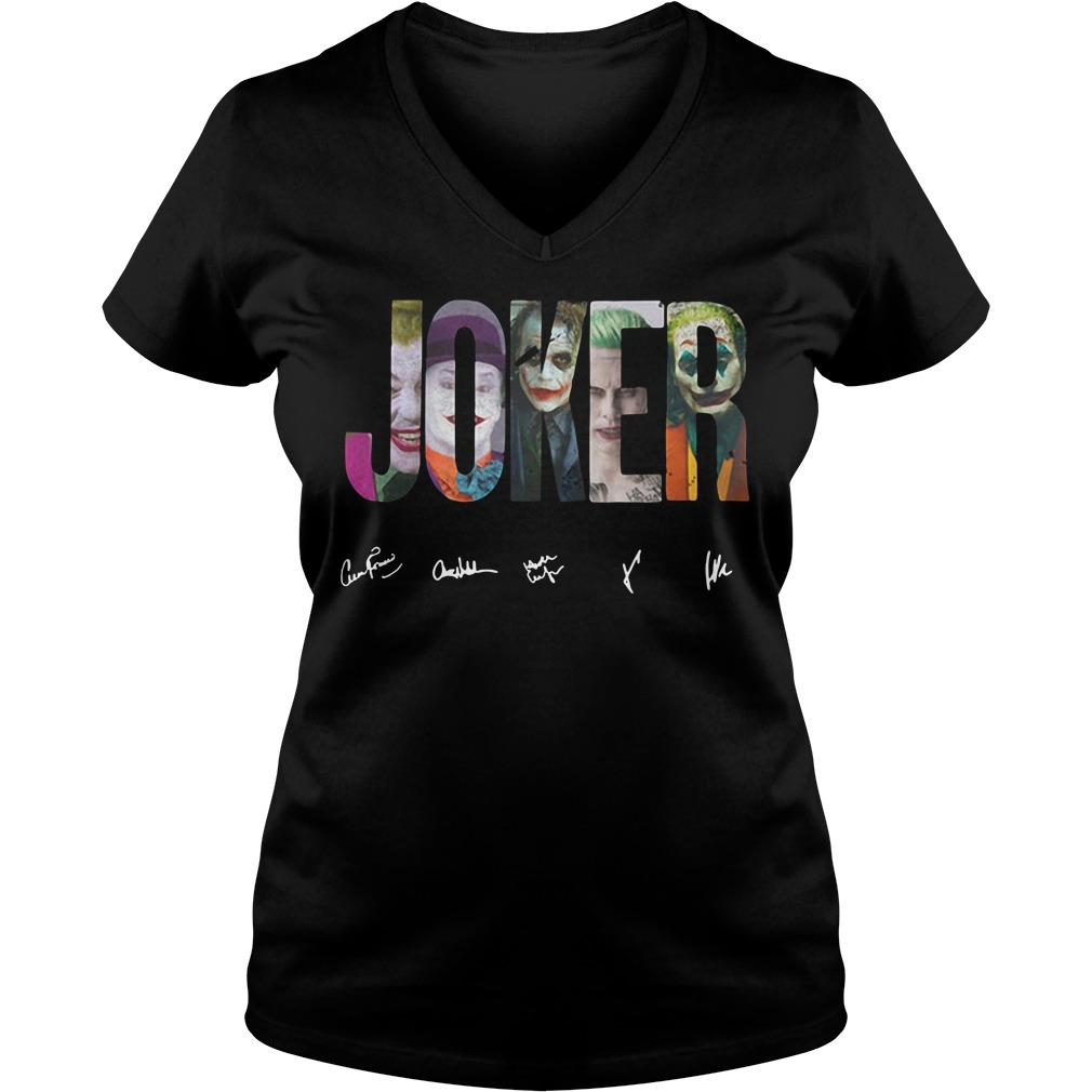 Dc Comics The Joker V-neck T-shirt