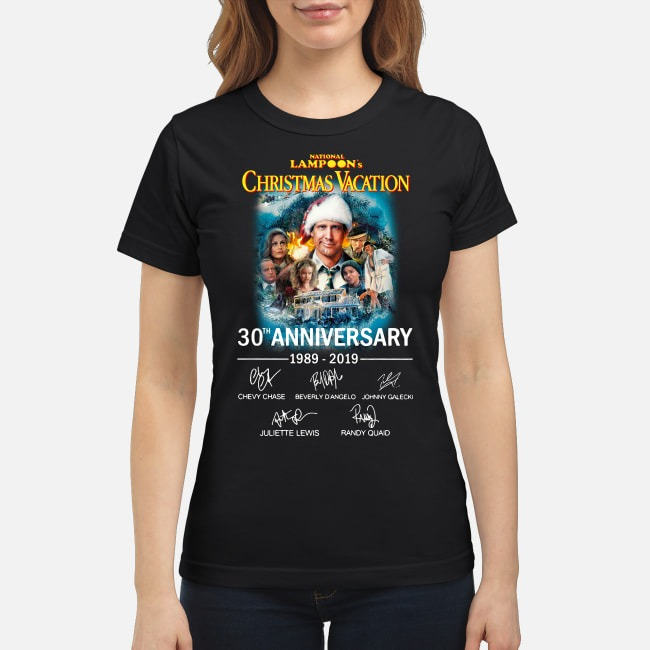 National Lampoons Christmas Vacation 30th Anniversary 1989 2019 Ladies Tee