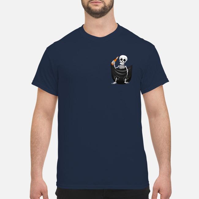 Skeleton Miller Lite Pocket Guys Shirt