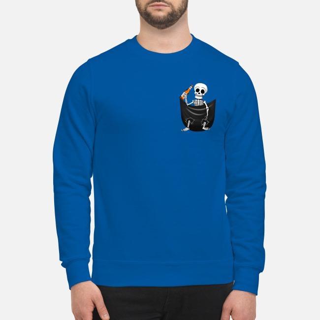 Skeleton Miller Lite Pocket Sweater