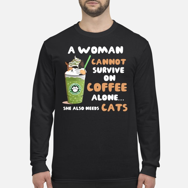 Starbuck A Woman Cannot Survive On Coffee Alone She Also Needs Cat Sweater