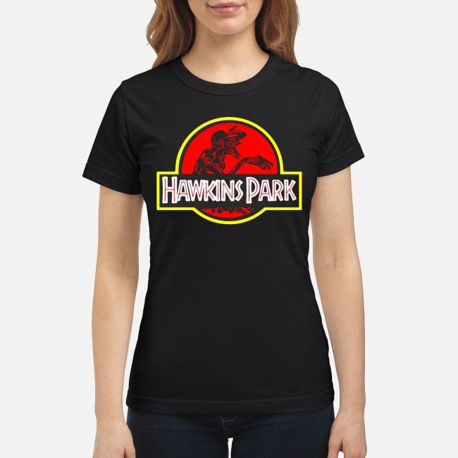 Stranger Things Hawkins Park Jurassic Park Ladies Tee