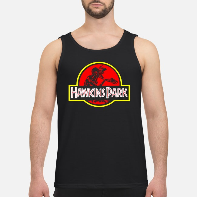 Stranger Things Hawkins Park Jurassic Park Tank Top