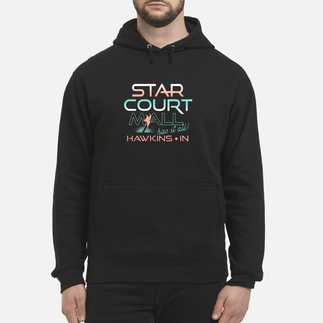 Stranger Things Star Court Mall Has It All Hawkins In Hoodie
