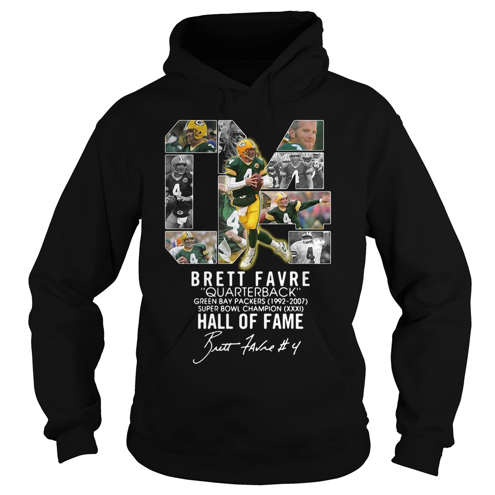 04 Brett Favre Quarterback Green Bay Packers 1992 2007 Super Bowl Hoodie