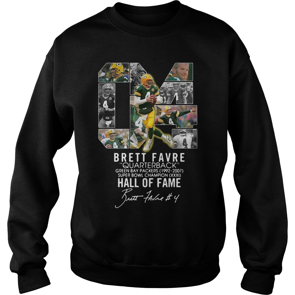 04 Brett Favre Quarterback Green Bay Packers 1992 2007 Super Bowl Sweater