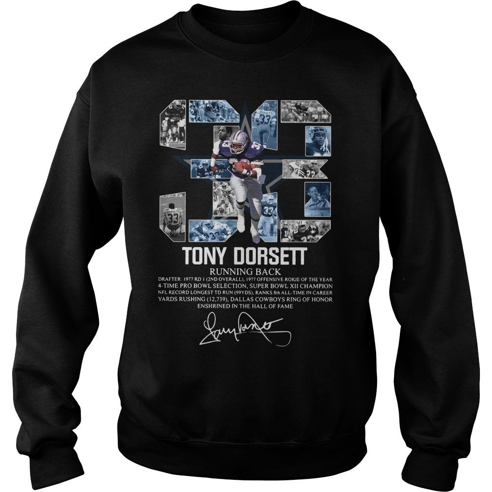 33 Tony Dorsett Running Back Signature Sweater