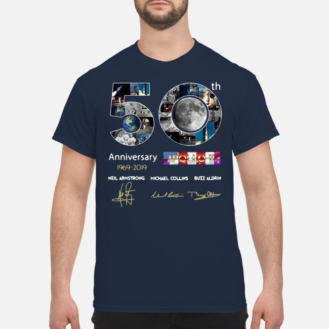 50th Anniversary 1969 2019 Apollo 11 Neil Armstrong Michael Guys Shirt