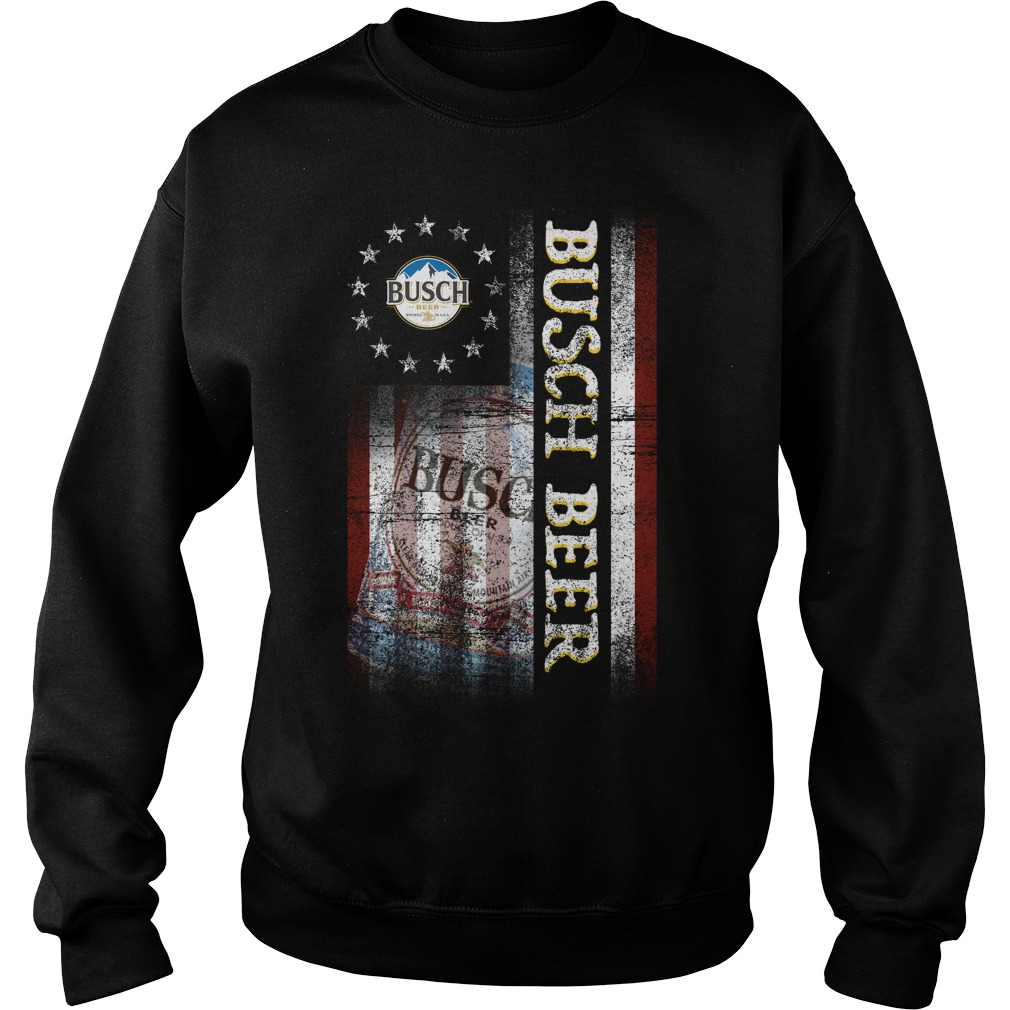 Betsy Ross Flag Busch Beer Sweater