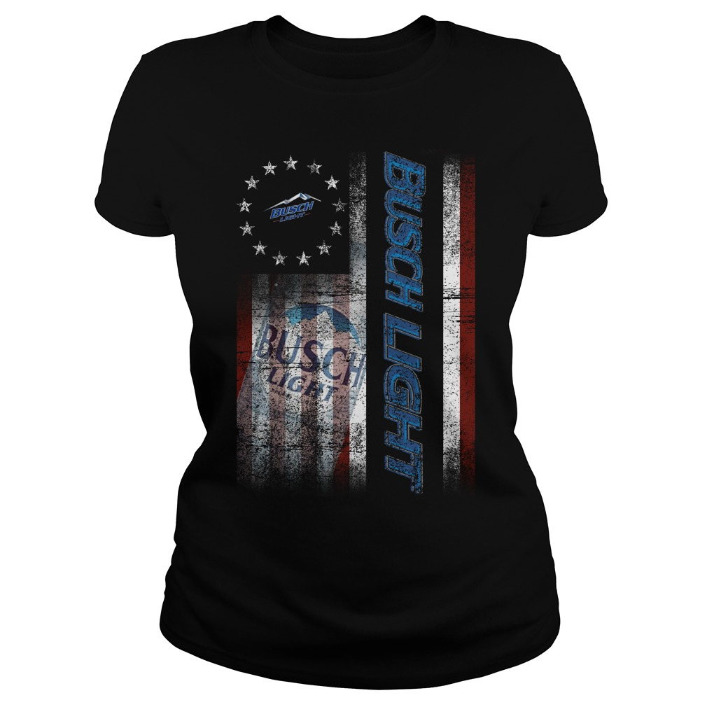 Betsy Ross Flag Busch Light Ladies tee