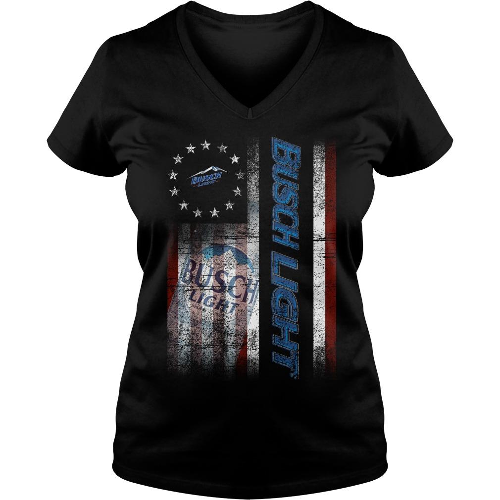 Betsy Ross Flag Busch Light V-neck T-shirt