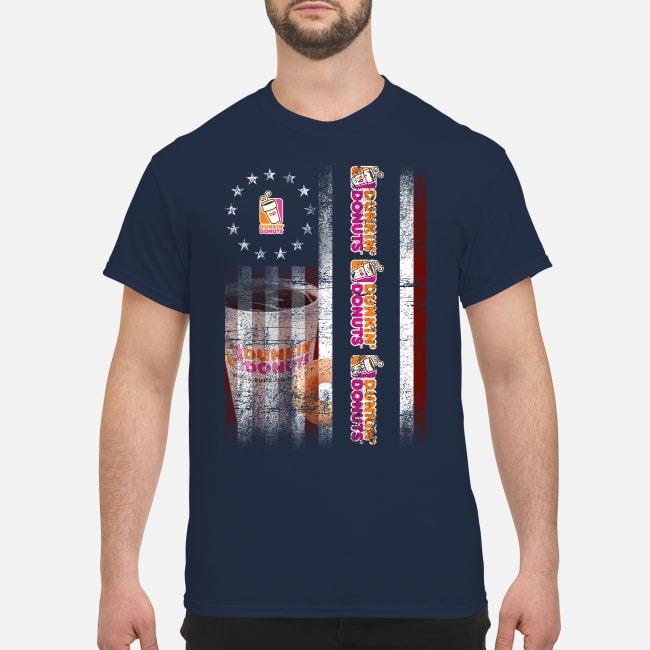 Betsy Ross Flag Dunkin' Donuts Guys Shirt