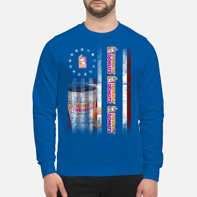 Betsy Ross Flag Dunkin' Donuts Sweater