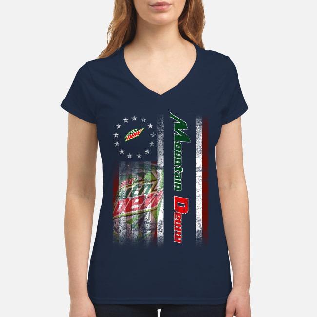 Betsy Ross Flag Mountain Dew V-neck T-shirt