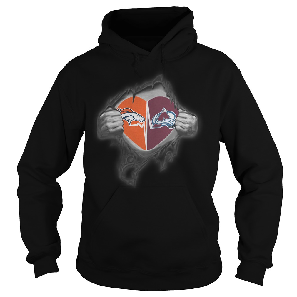 Broncos Avalanche It's In My Heart Inside Me Hoodie