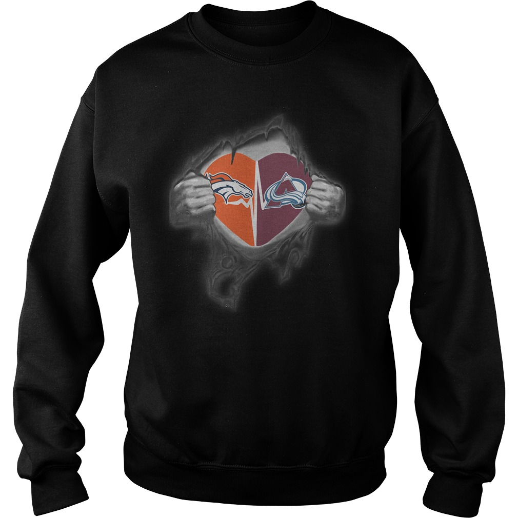 Broncos Avalanche It's In My Heart Inside Me Sweater