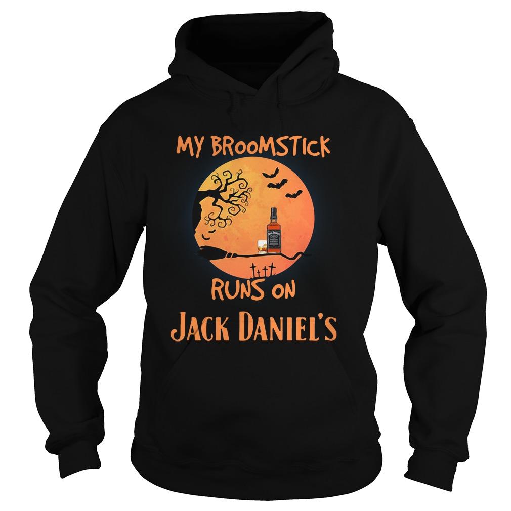 Halloween My Broomstick Runs On Jack Daniels Hoodie