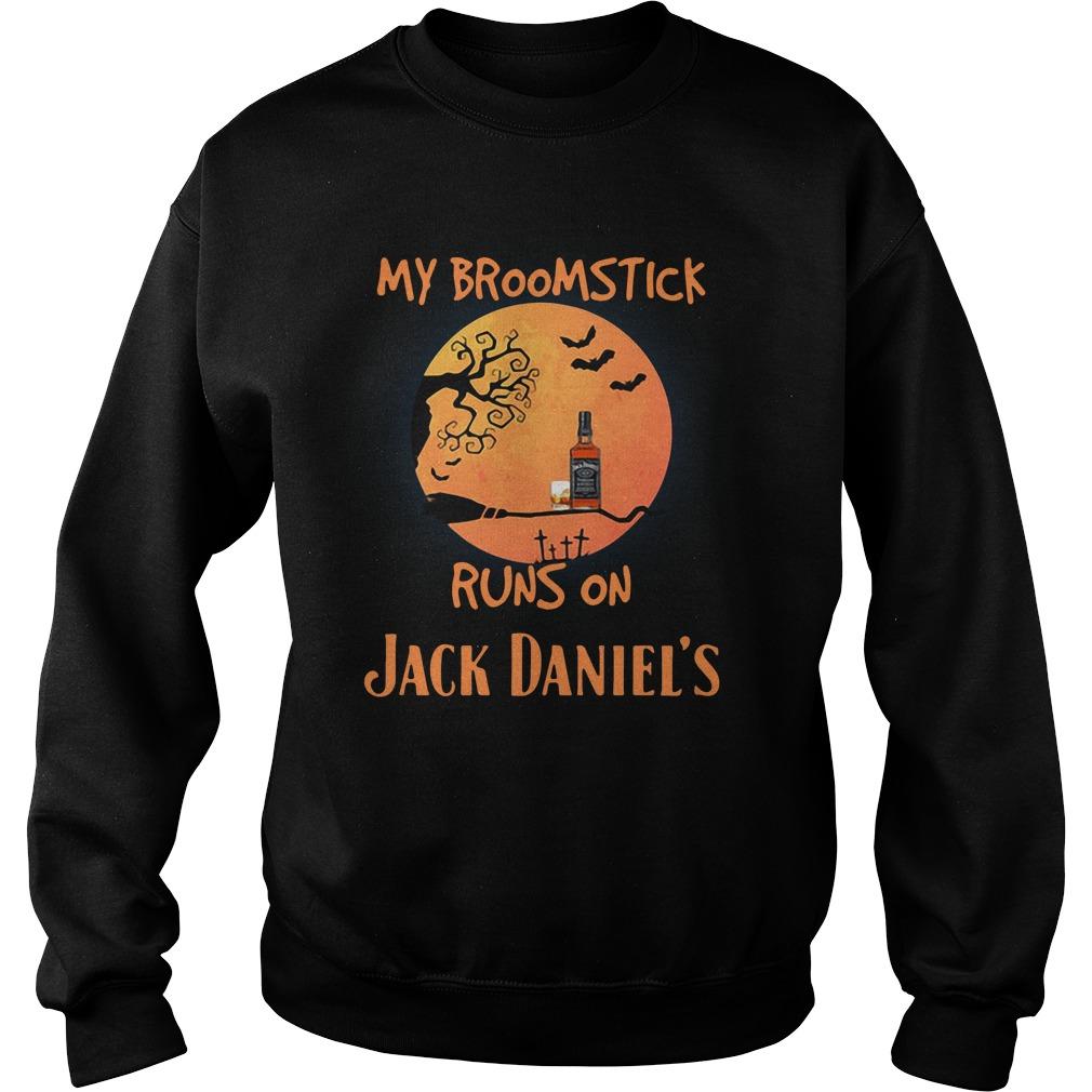 Halloween My Broomstick Runs On Jack Daniels Sweater
