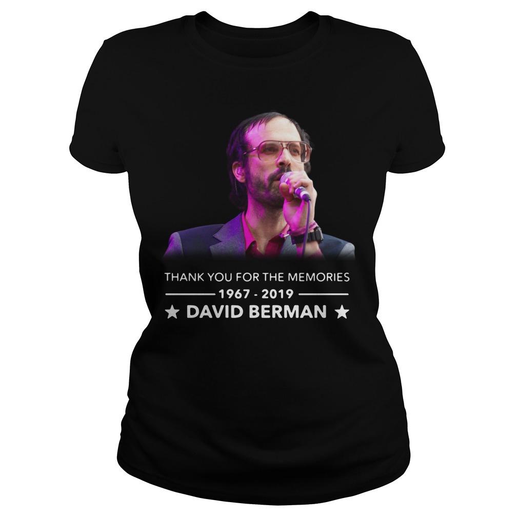 David Berman Silver Jews 1967 2019 Thank You For The Memories Shirt