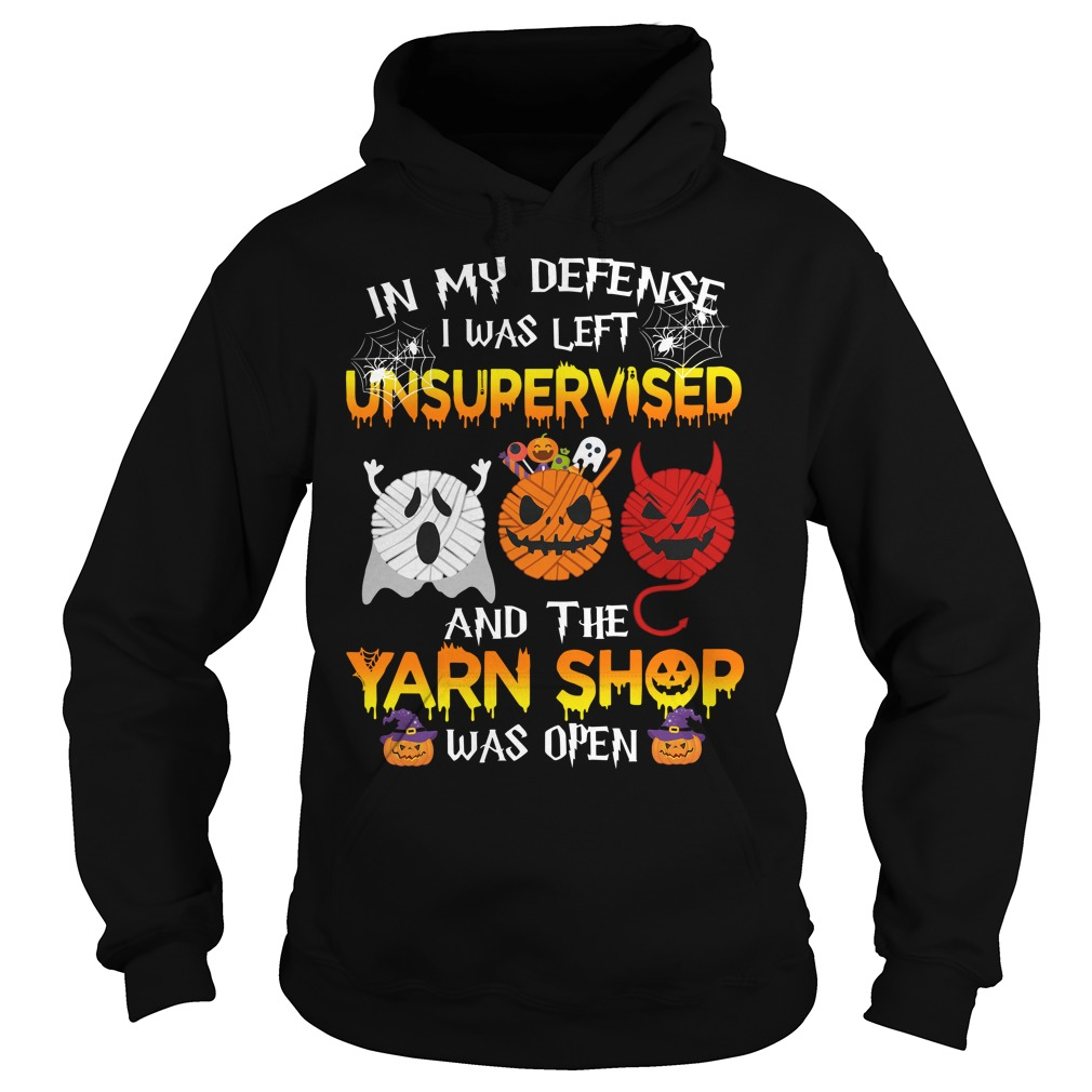 In My Defense I Was Left Unsupervised And The Yarn Shop Was Open Hoodie
