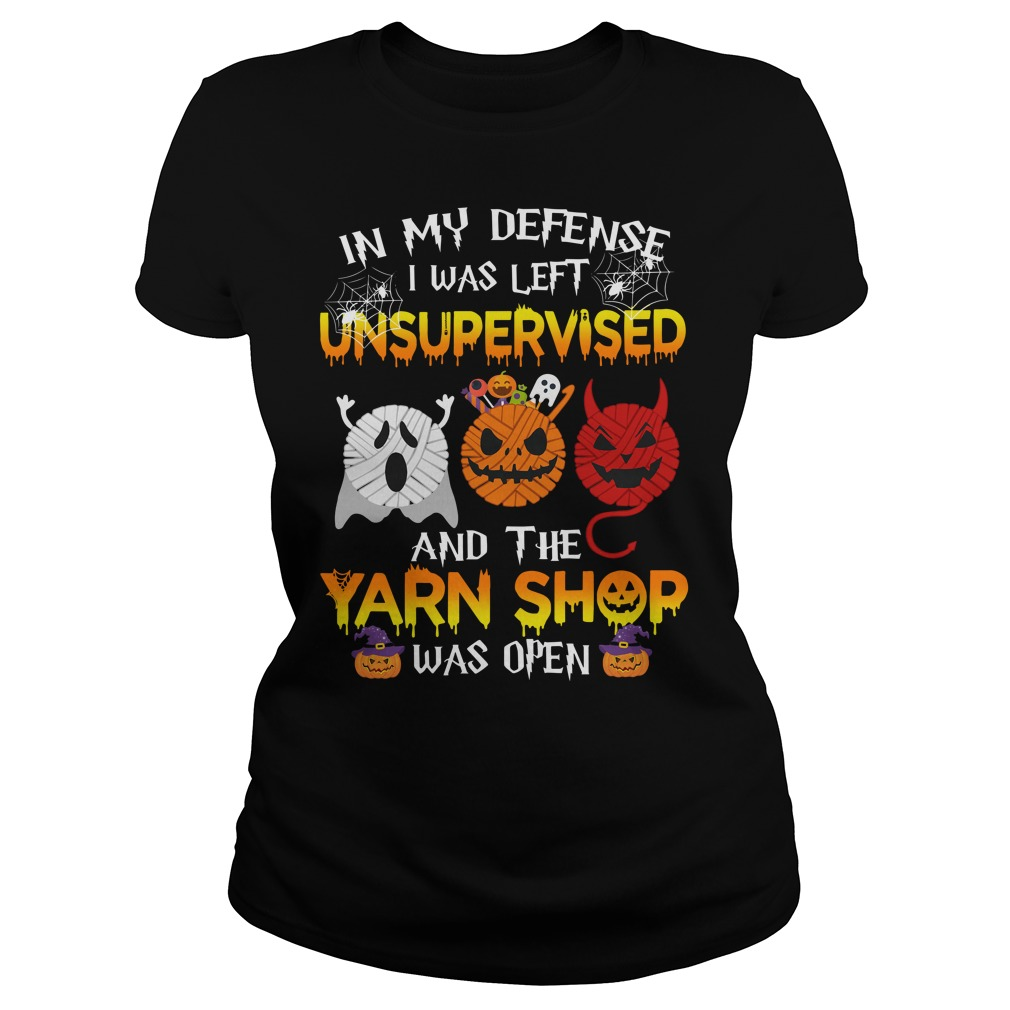In My Defense I Was Left Unsupervised And The Yarn Shop Was Open Ladies tee