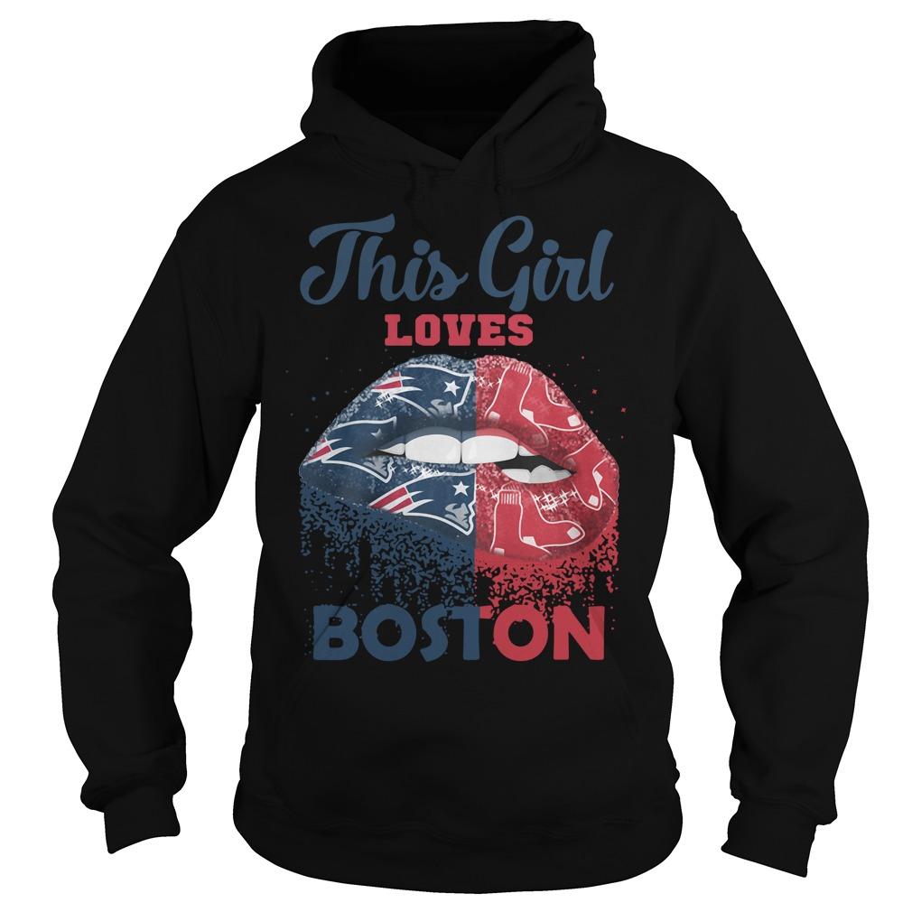 Lip This Girl Loves Boston Hoodie