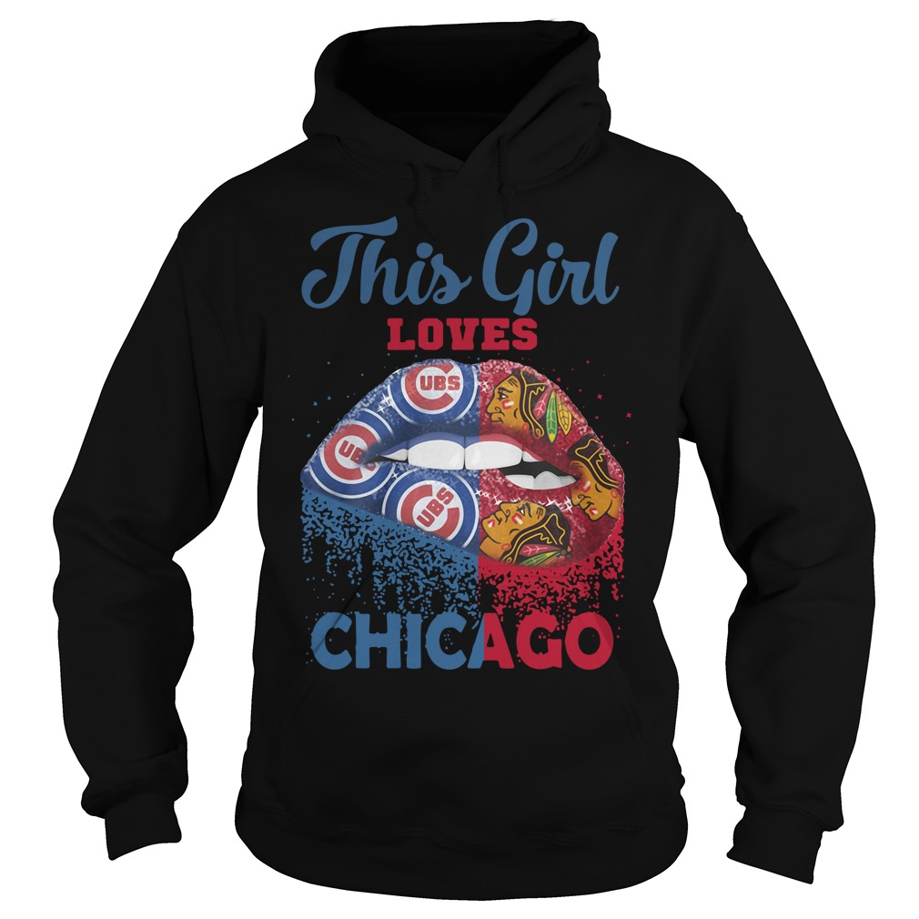 Lip This Girl Loves Chicago Hoodie